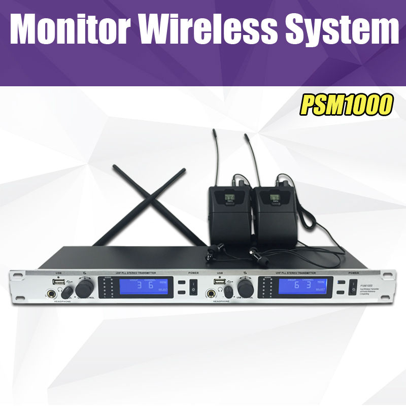 top quality in ear monitor system 2 channel 2 bodypack professional monitoring with in. Black Bedroom Furniture Sets. Home Design Ideas