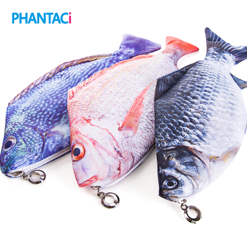 Cute Kawaii Fish Shape Pencil Case Stationery School Student Cloth Pen Bag Gift Children Kids Novelty High Quality стоимость