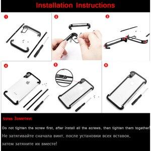 Image 5 - Original Oatsbasf aluminium métal pare chocs étui pour iphone X XS XS MAX XR luxe dur antichoc goutte Protection étui pour iphone 11
