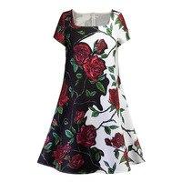 Sisjuly Vintage Dress 1950s Women Solid Dress Floral Knee Length Summer Dress Black Lady Short Sleeve