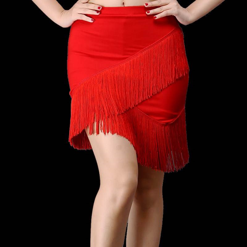 Systematic New Adult Sexy Latin Dance Skirts Stage Performance Clothing Professional Tutu Tango Salsa Dance Clothes Latin Fringed Skirts Choice Materials