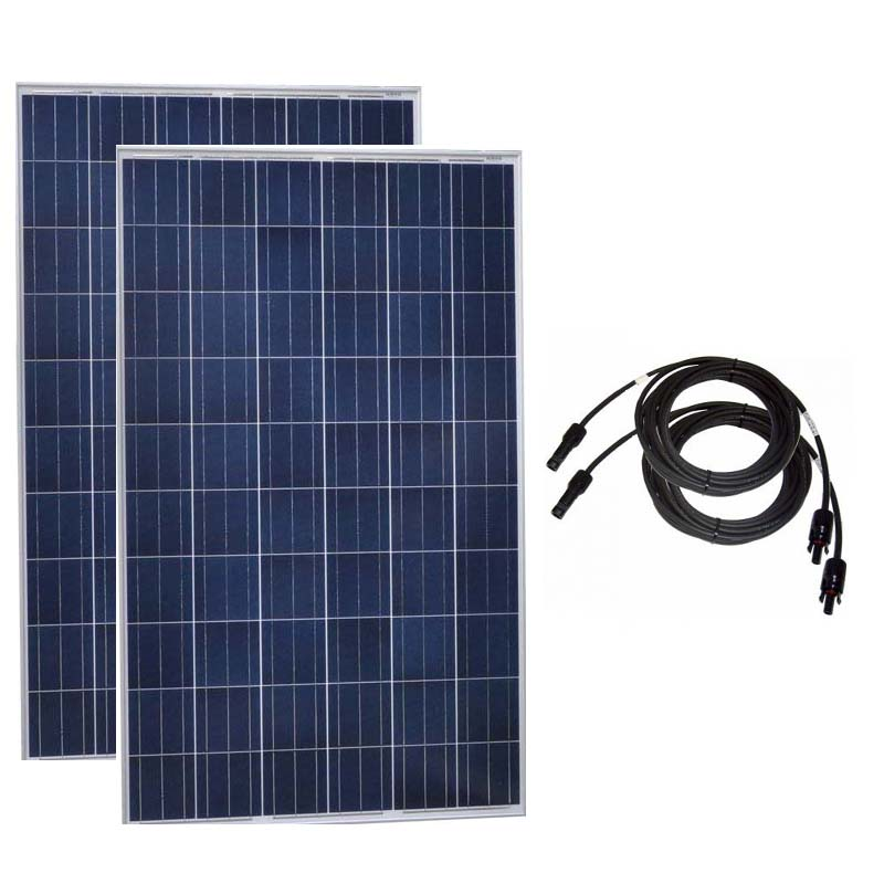 Outdoor Solar Panel 20v 250w 2 Pcs Solar Panels Roof 500w 220V Solar Battery Charger Autocaravanas Motorhomes Solar Home System in Solar Cells from Consumer Electronics