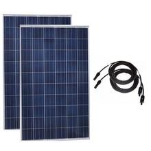Outdoor Solar Panel 20v 250w 2 Pcs Solar Panels Roof 500w 220V Solar Battery Charger Autocaravanas Motorhomes Solar Home System