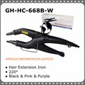 Temperature Constant Fusion Hair Iron / Connector GH-HC-668B-W Black Color