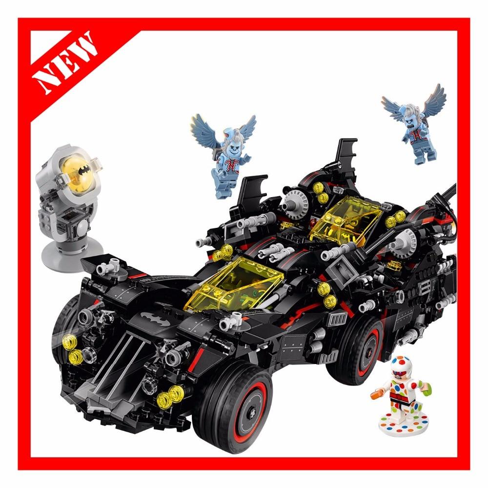 Oyuncaklar ve Hobi Ürünleri'ten Bloklar'de Uyumlu Batman 1496 Pcs Marvel Super Heroes Hakiki Film Nihai Batmobile Yapı Taşları Tuğla Oyuncaklar'da  Grup 1