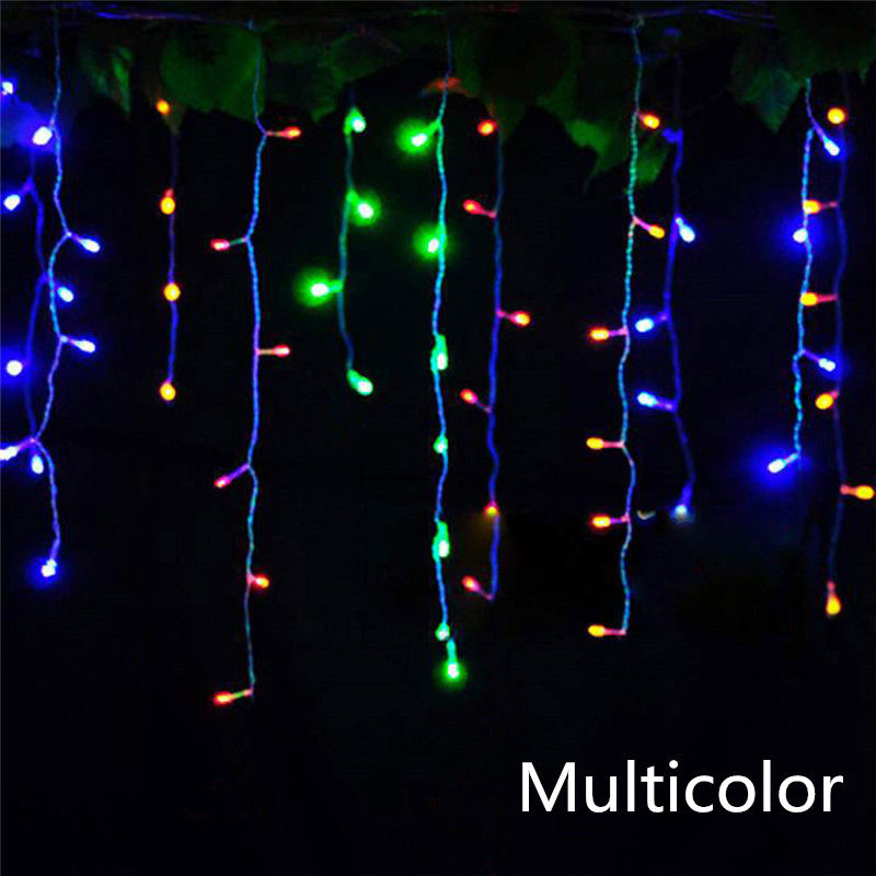 Image 4 - christmas lights outdoor decoration 5 meter droop 0.3 0.5m led curtain icicle string lights new year wedding party garland light-in LED String from Lights & Lighting on