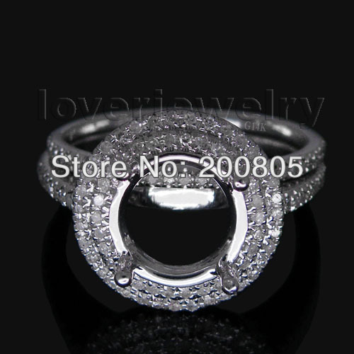 Vintage Round 9mm 14Kt White Gold Natural Diamond Wedding Band Ring WU083