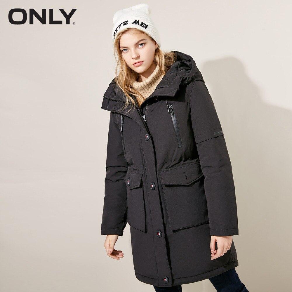 เฉพาะผู้หญิงฤดูหนาวใหม่ edgy ปุ่ม hooded ลงเสื้อ Contrast ปุ่มตกแต่งปฏิบัติ hood ออกแบบ  118312593-ใน เสื้อโค้ทดาวน์ จาก เสื้อผ้าสตรี บน   1