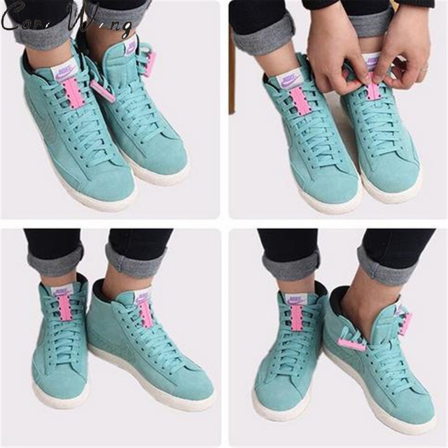CORA WANG 1 Pair Shoe Laces Magnetic Fashion Metal Unisex Shoelaces  Lazy Lacet Elastic Chaussure Shoestring ASL667B cora de adamich pубашка