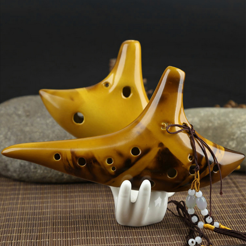 12 Hole Legend Zelda Ocarina Of Time Alto C Smoldering Ceramic Flute Ocarina Hot