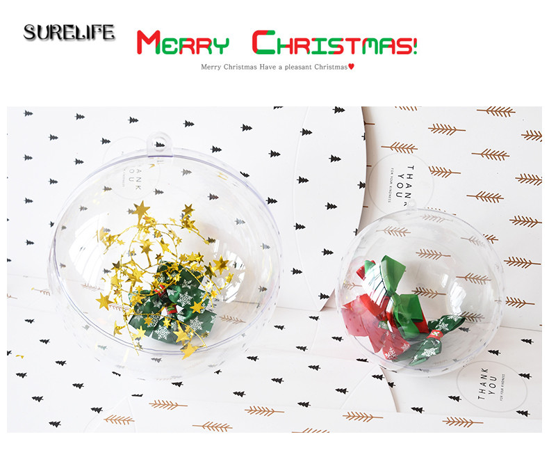 75pcs 4/5cm Clear Christmas Decoration Hanging Ball