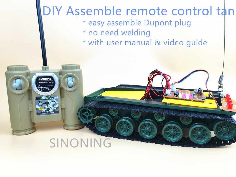 SINONING Recirc 4 Channel Remote Control Tank Toy Smart Robot Tank Chassis DIY Handmade Power driven