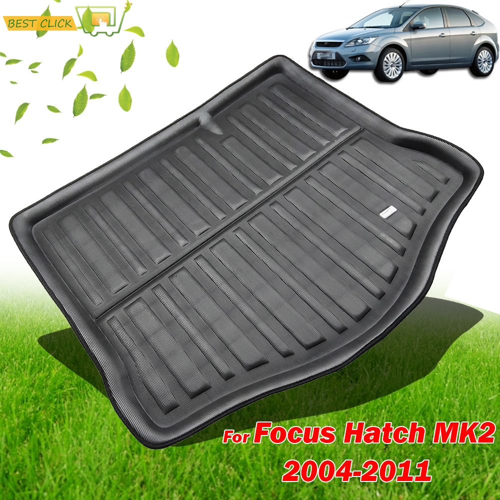 Accessories Fit For Ford Focus MK2 2005 2006 2007 2008 2009 2010 2011 Hatch Boot Mat Rear Trunk Liner Cargo Floor Tray