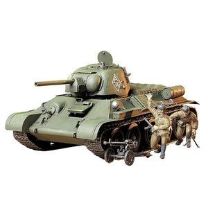 Image 4 - 1:35 zbiornik z tworzywa sztucznego zestaw klocków rosyjski USSIAN T34/76 1943 zbiornik zestawy montażowe DIY TAMIYA 35149