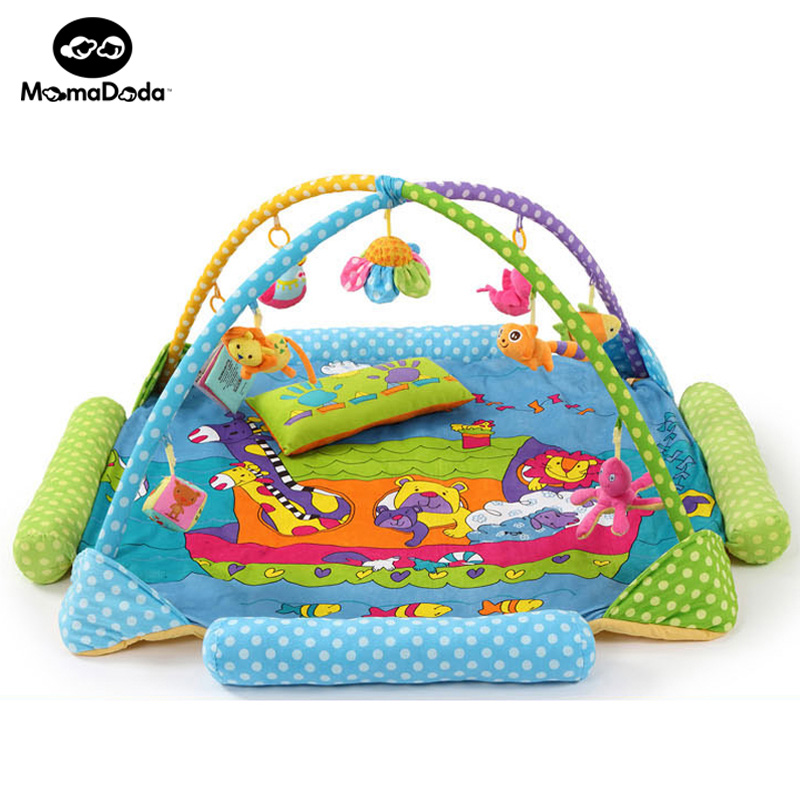 Zoo Kids Rug Baby Play Mat With Rack And Rattels Soft Educational Developing Mat  For Children Crawling Carpet Baby Play Gym