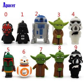 Apacer Cartoon Pen drive Star wars darth vader 4GB 8GB 16GB 32GB usb flash drive 64GB  usb2.0