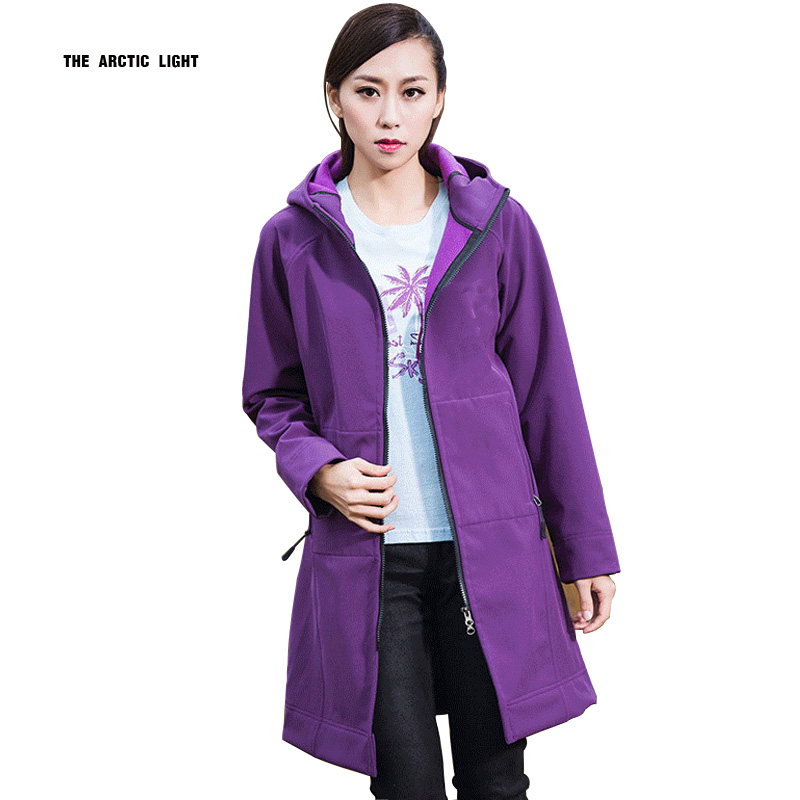 Camping Fleece Waterproof Softshell Jacket Women Outdoor Chaqueta Impermeable Mujer Long Hiking Coat Windstopper Hunting Clothes 2016fleece waterproof softshell jacket women outdoor chaqueta impermeable mujer long hiking jackets windstopper hunting clothes