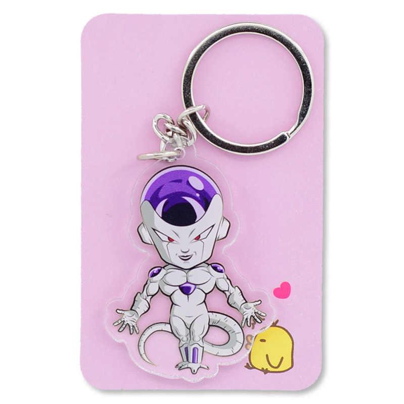 Dragon Ball Z GT Goku Transparente Dupla Face Keychain/Celular Super Saiyan Chaveiro Hot Sale Custom made Anime anel chave PCB155-161