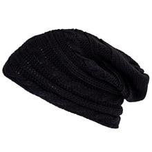 TFGS 10 x (Winter Черный Негабаритных Вязать Багги Шапочка Слауч Hat Мужская Мода Подарков
