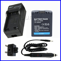 Battery Charger Kit For Panasonic Lumix DMC FZ7 DMC FZ8 DMC FZ18 DMC FZ28 DMC FZ30