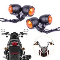 Motorcycle 4x 12V Bullet Turn Signal Indicator Lights Lamp Fit For Harley Bobber Chopper Yamaha Suzuki