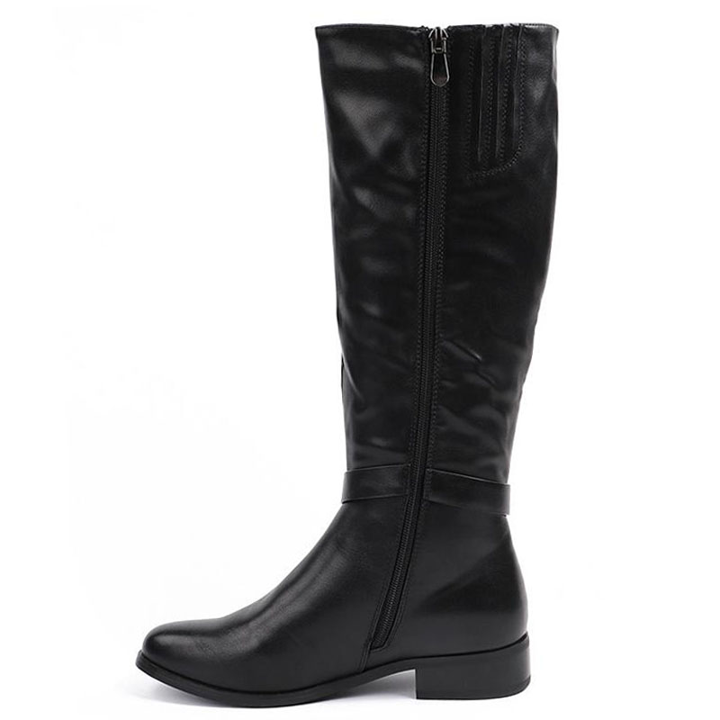 Aa1028 Plates Up Bouclée Nouvelles Garder D'hiver 40 Des Chaussures Chaud Longues Lady Au Taille Noir Femmes Mode Bottes De QeroCWEdxB