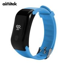 Aimitek спортивные Smart Band Bluetooth Браслет фитнес-трекер Шагомер Водонепроницаемый монитор сердечного ритма браслет для IOS Android