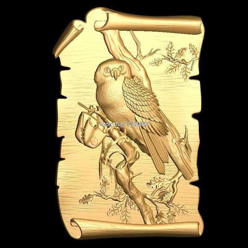 Pájaro 3D modelo STL alivio para cnc STL formato muebles pájaro 3D formato STL decoración de muebles