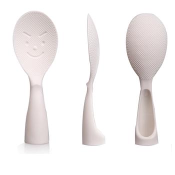 Standable nieprzywierająca plastikowa łyżka do ryżu urocza zastawa stołowa obiad ryżowar specjalne naczynia kuchenne do ryżu w kształcie wiosła łopatka narzędziowa tanie i dobre opinie Z tworzywa sztucznego Plastic