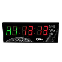 [GANXIN] battery powered led gym crossfit interval timer clock with tabata for sport training Free shipping