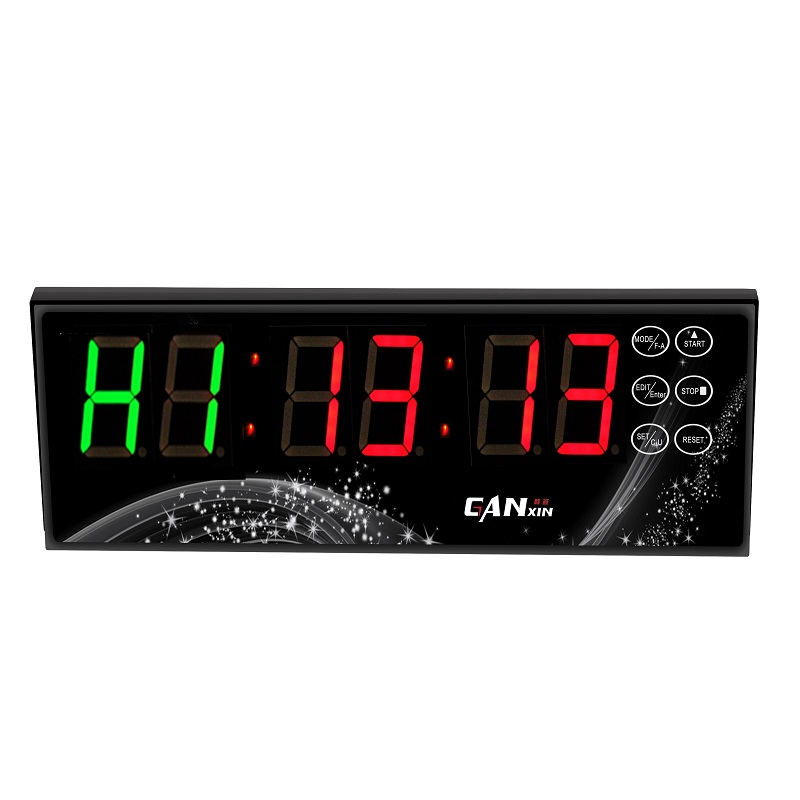 ganxin battery powered led gym crossfit interval timer clock with