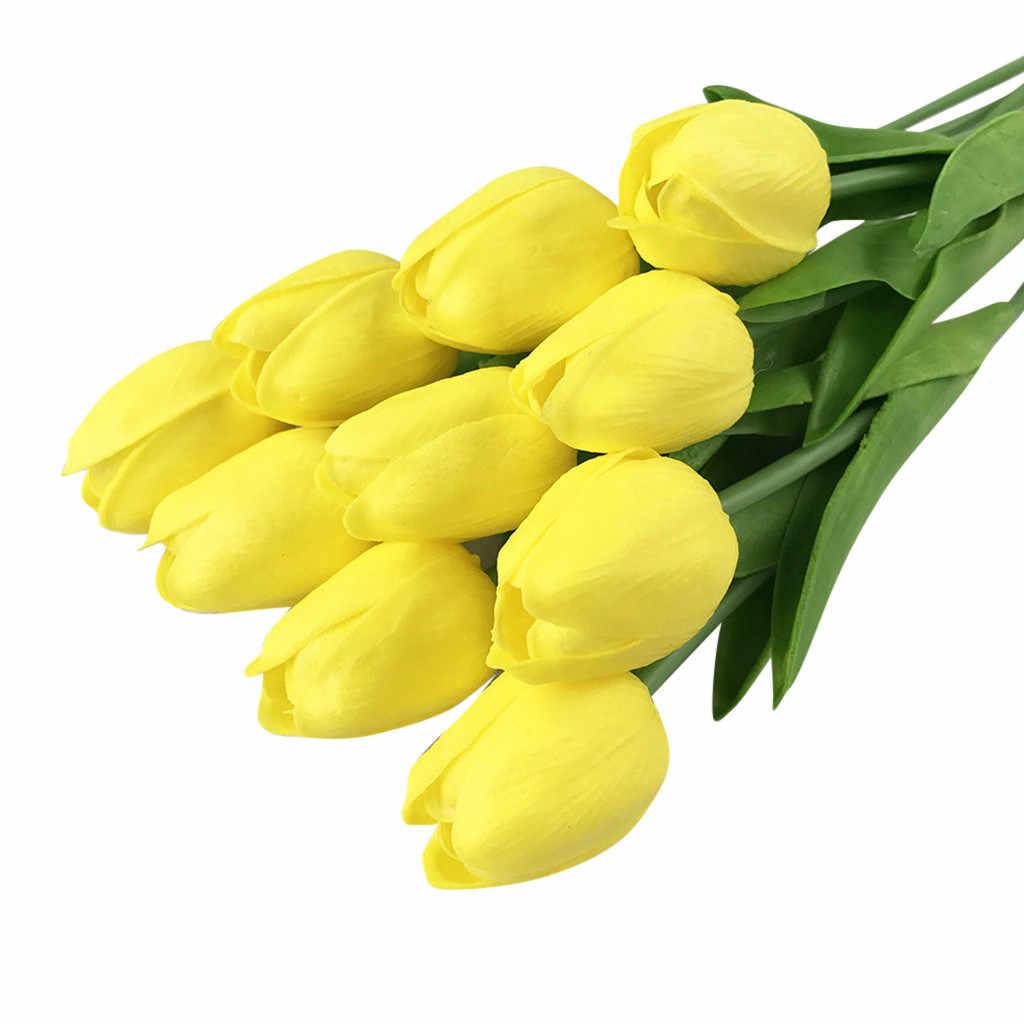 20 piezas de Belleza Real toque flores de látex tulipanes flor Artificial ramo de flores falsas ramo de novia decorar flores para boda