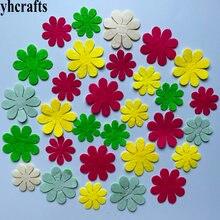 1 пакет(30-50 шт). Цветочные фетровые наклейки, тканевые поделки для раннего обучения, развивающие игрушки для детей, подарки на день рождения, ремесла для детского сада