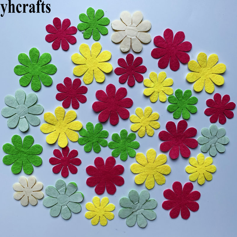1bag(30-50pcs). Flower Felt Stickers Fabric Crafts Early Learning Educational Diy Toys Kids Birthday Gifts Kindergarten Crafts