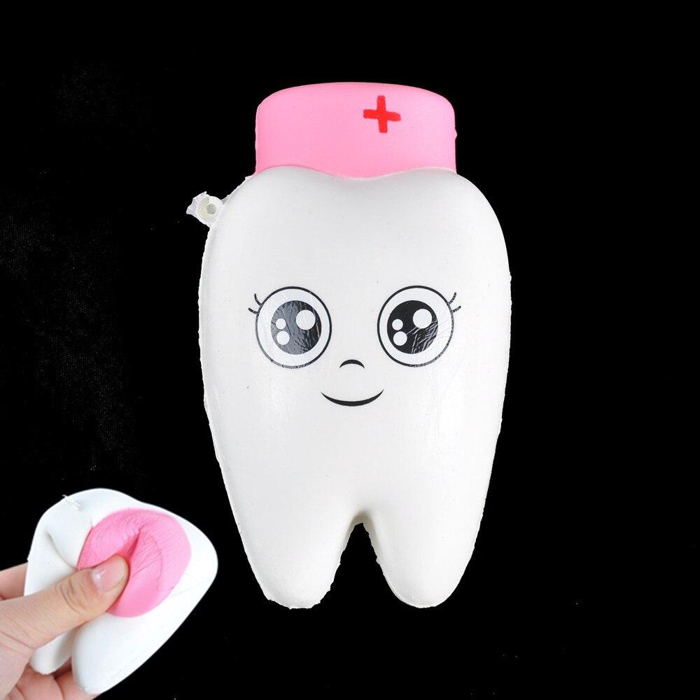 Mobile Phone Straps The Best 11cm Cartoon Teeth Doctor Jumbo Kawaii Squishy Soft Slow Rising Squeeze Dentist Kid Toys Doll Gift Phone Straps Bread Cake Jumbo