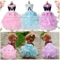 Super Quality Luxury Pet Dog Wedding Dress Wedding Veil For Teddy Puppy Summer Clothes