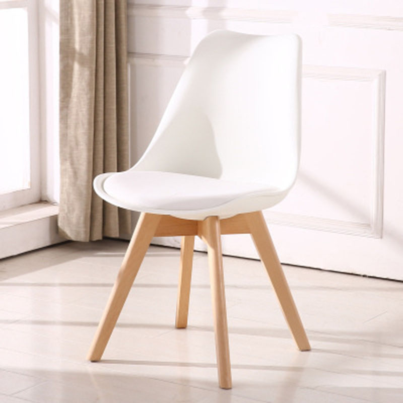Solid Wood Casual Plastic Reliable Back Chair Simple Dining Room Balcony Living Room Home Furniture Study Bedroom Student Chair