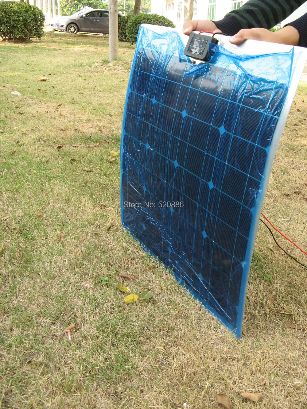 USA stock, no tax, 2pcs 40W mono semi-flexible pv solar panel 12v, for boat RV,  home solar system, car battery, free shipping