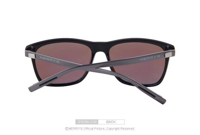 MERRY'S Fashion Unisex Polarized Lens Aluminum Sunglasses