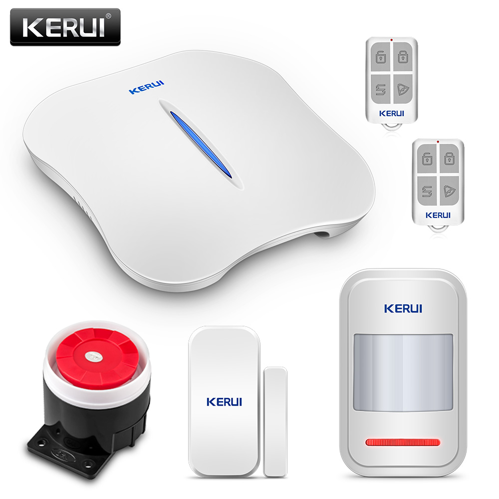 KERUI W1 WIFI PSTN Alarm Systems Home Burglar Alarm Systems Wireless Home Alarm Motion Detector Security  Door Magnet