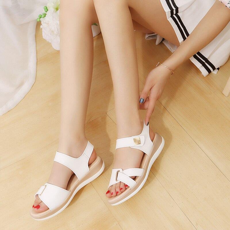 Cuero V284 Zapatos Plataforma De Metal Ocasionales Blanco Mujer Cuña ID9WEHe2Y