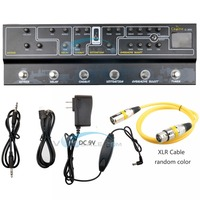 Caline C300 Multi Effects Pedal 9V Tuner Amp Modelling Guitar Pedal Effect Guitar Accessories Guitar Parts With XLR Audio Cable
