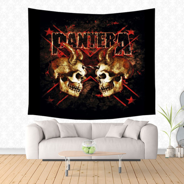Pantera Tapestry Wall Hanging Customized Bedspread Bedsheets Dorm Cover Home Art Room Rug