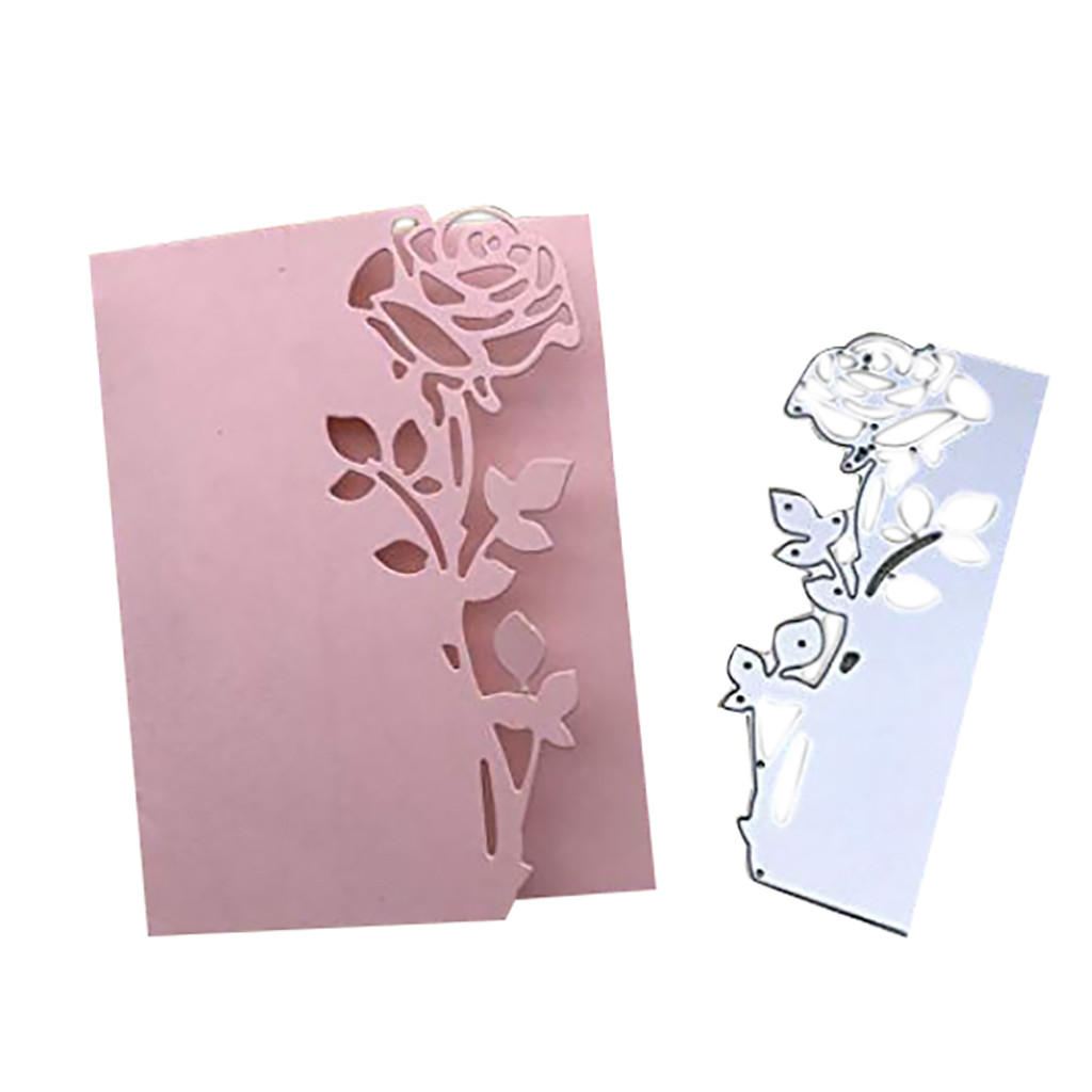 Rose Leaves Border Cutting Dies Metal Scrapbook Embossing Paper Craft Decoration