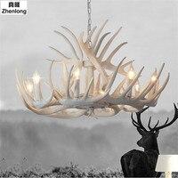 Antlers Resin Chandelier Lamp Modern LED Antler Chandelier Lustre Chandeliers E14 Vintage Lights Novelty Lighting