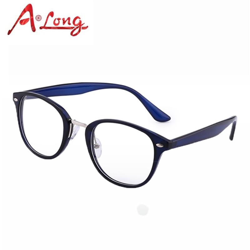 68001b3e8f07 A Long Eye Glasses Frames for Women Fashion Optical Round Eyeglasses Men  Eyewear Accessories Clear Vintage Glass Frames M68020.