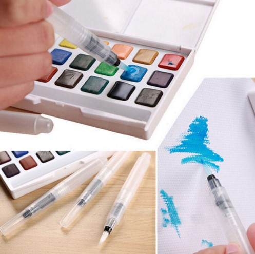 Paint brush l/m/s  Waterbrush Water Tank Calligraphy Brush Pen Watercolor calligrahy brush art marker pen water color стоимость