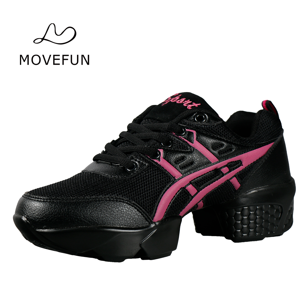 Adults Breath Non-slip Sports Shoes for Women Platform Dance Shoes Sneakers Woman Leather Jazz Sneaker Ladies