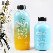JOUDOO 600ml Portable Plastic Water Bottles Outdoor Space Bo