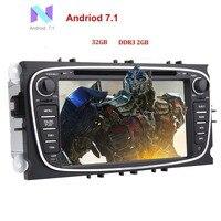 EinCar 32 ГБ + 2 ГБ Android 7,1 двойной дин стерео для Ford Focus Bluetooth Радио gps в тире авторадио головное устройство dvd плеер автомобиля